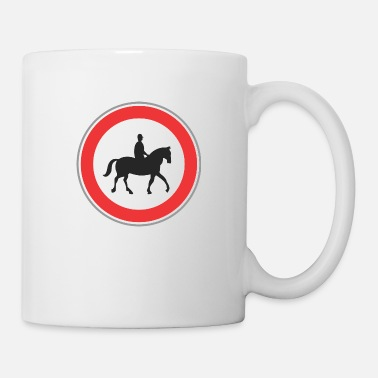 Horseman Road sign horseman - Mug