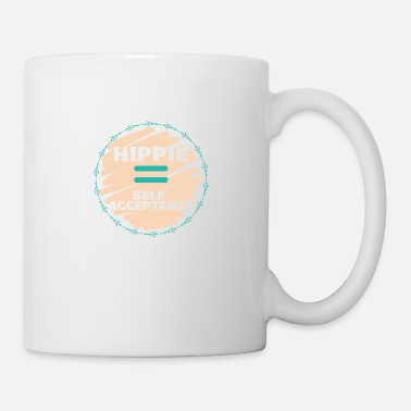 Hip Hippie / Hippies: Hippie = acceptation de soi - Mug blanc