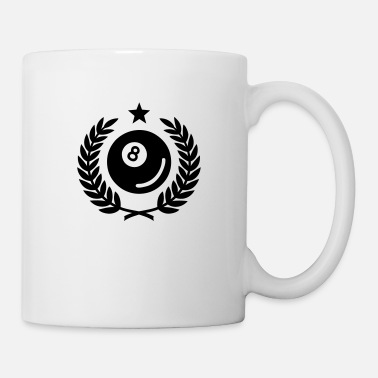 Billiard Ball Laurel wreath (billiards) 01 - Mug