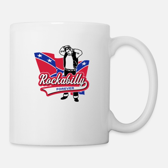 Old School Tassen & Becher - Rockabilly Forever - Tasse Weiß