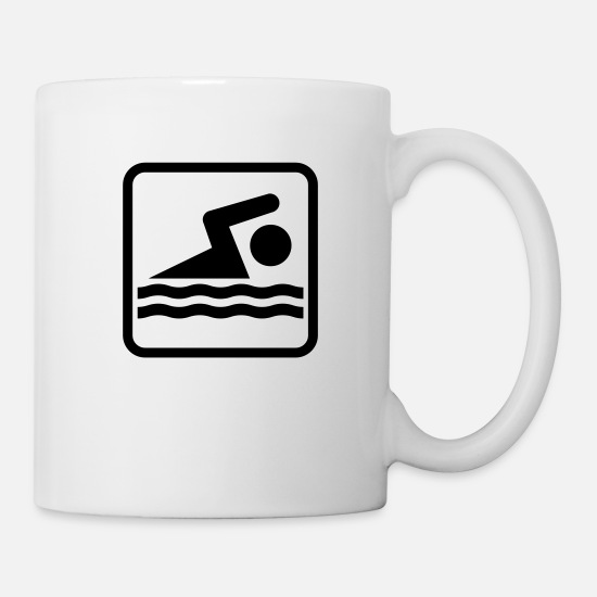 Waterpolo Mugs et récipients - swimm - Mug blanc