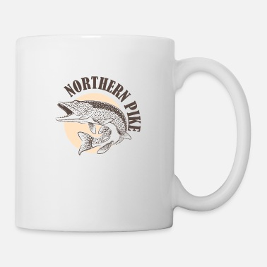 Predatory Fish Pike predatory fish Esocidae fishing angler fish - Mug