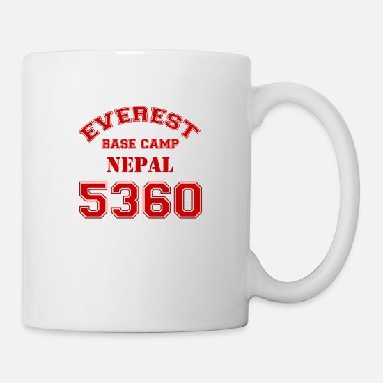 Mountains Mugs & Drinkware - Everest Base Camp (red) - Mug white