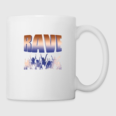 Techno Raver Raver Electric DJ - Mug blanc