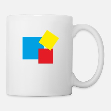 Rectangle rectangles - Mug blanc