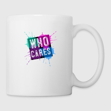 Who cares? Farbkleckse - Tasse