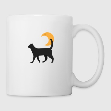 Kitty Et La Lune - Mug blanc