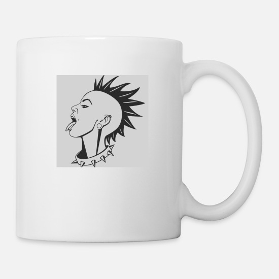 League Game Mugs & Drinkware - Punk Rock Girl - Mug white