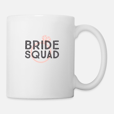 Celibenubile Bride squad, team sposa, anello diamante rosa - Tazza