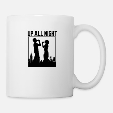 Party Up all night - party silhouette - Mug