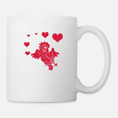 Cupido Cupid with Hearts Bow and Arrow - Tasse
