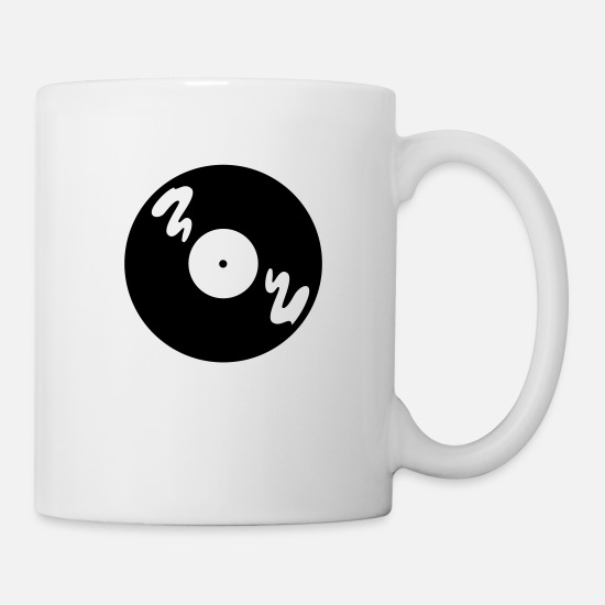 Music Mugs & Drinkware - Music Record - Mug white