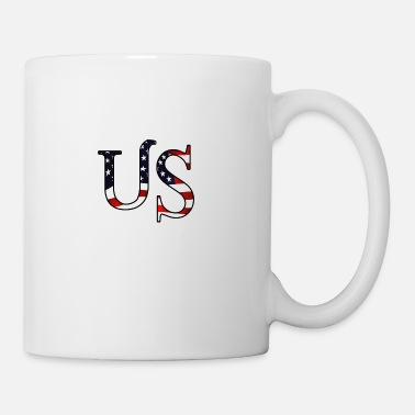 Us America US USA Flag America US - Taza