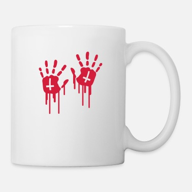 Hand Retreating Bloody Handprints - Mug