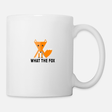 Officialbrands what the fox - fuchs - flat design - Mug