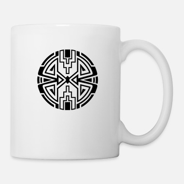 Native American Native circle symbol, arrows & diamond - Intention - Mug