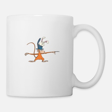 Little Brother Magician Monkey in Yoga Stand Scales Yoga Pose Gift - Mug