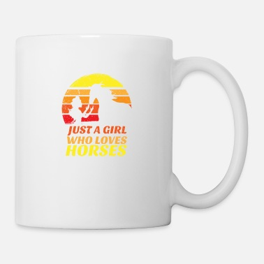 Cowboy Just a Girl Who Loves Horses Horse Riding Gift - Mug