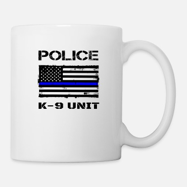 Distress Police K9 Unit Thin Blue Line Flag K-9 Handler - Mug