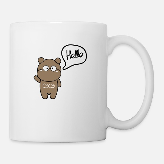 Pet Mugs & Drinkware - Hello CoCo - Mug white
