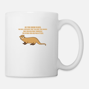 Jung Geblieben Funny Otter Saying Gift Animal Love Shirt - Tasse