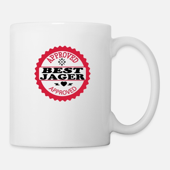 Gun Mugs & Drinkware - Approved best jager - Mug white
