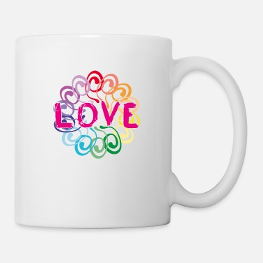 Global Peace Peace World Peace Flower Power Gift 70s Love - Mug