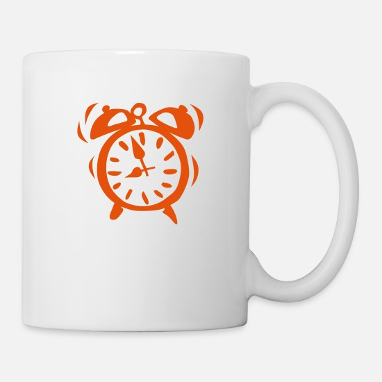 Alarm Mugs & Drinkware - clock alarm ringtone 2205 - Mug white