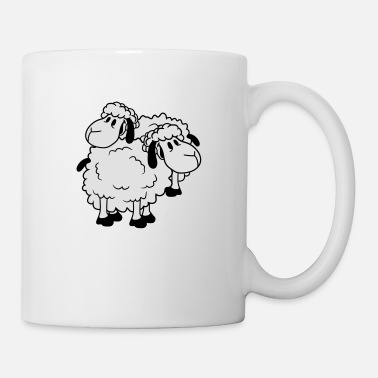Lamb 2 friends team couple duo brothers happy funny cut - Mug