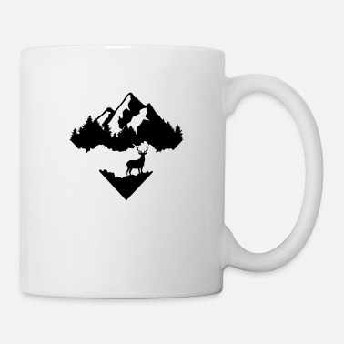 Deer Antlers Deer, Forrest and Mountains - Mug
