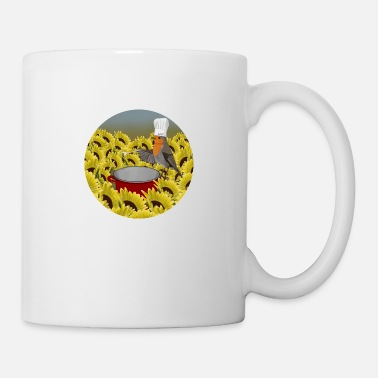 Bird Illustration Bird illustration robin as a chef - Mug