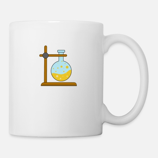 Birthday Mugs & Drinkware - Chemistry test tube reaction gift - Mug white