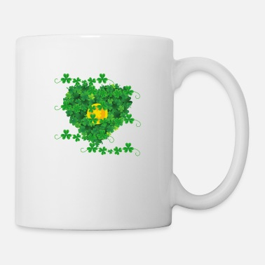 Heartily Heart from clover gold coin lucky symbol gold - Mug