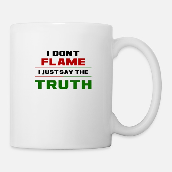 League Of Legends Mugs & Drinkware - Flame Truth - Mug white