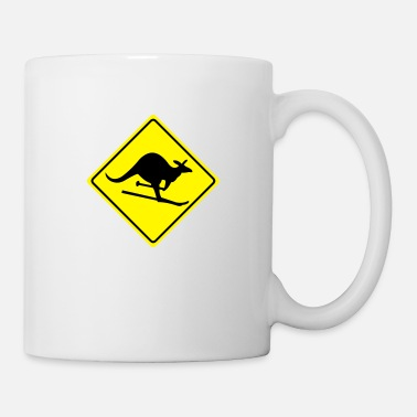 Street Witty Miscellaneous roadsign kangaroo - Mug