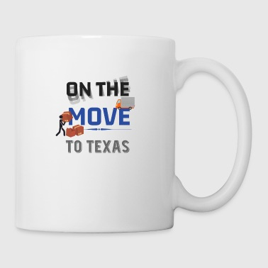 En camino a Texas Moving State & House Gift - Taza