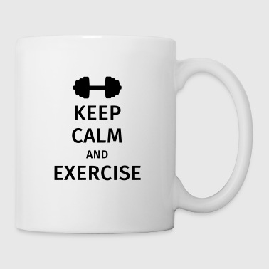 keep calm and exercise - Kubek