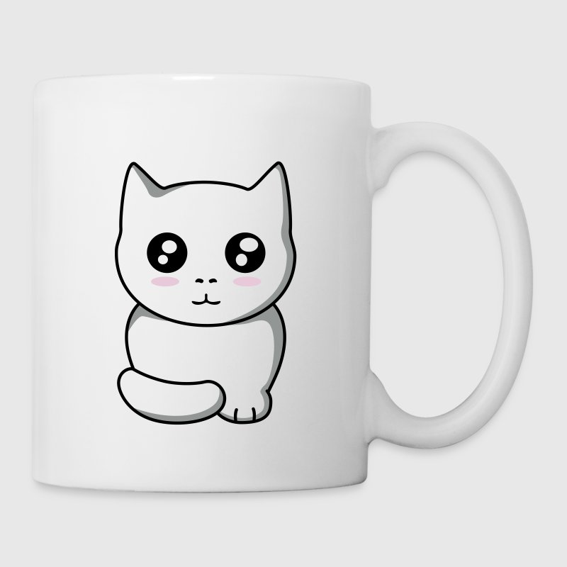 chat kawaii - Mug blanc
