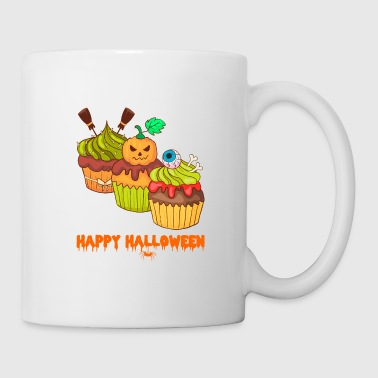 Skeleton Halloween horror cupcakes muffins - Mug