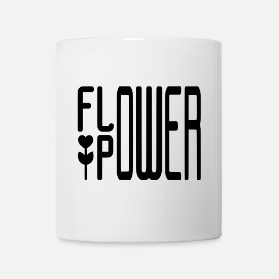 Garden Mugs & Drinkware - FLOWER POWER - Mug white