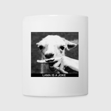 Lama is a joke - Mug blanc