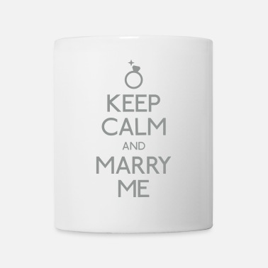 Ring keep calm marry me hålla lugn gifta mig - Mugg
