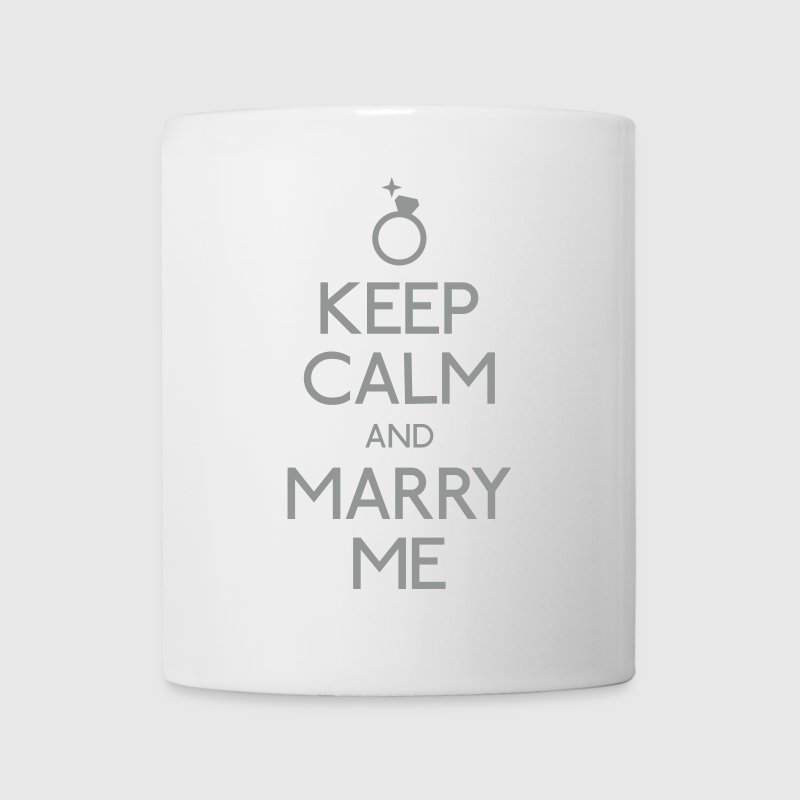 keep calm and marry me - Mug blanc