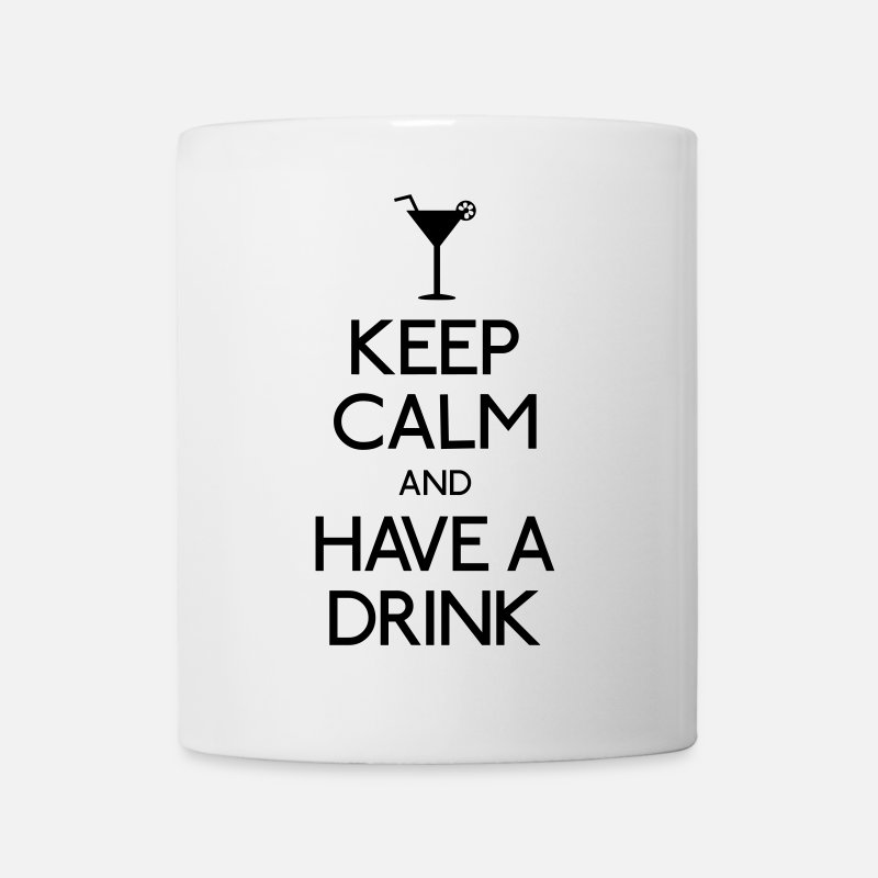 Alcohol Mokken & toebehoor - keep calm and have a drink - Mok wit