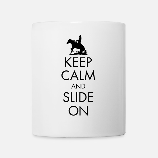 Westernpferd Tassen & Becher - Keep Calm and Slide On - Men - Tasse Weiß