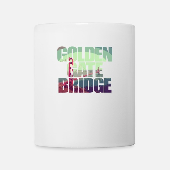 Usa Mugs & Drinkware - Golden Gate Bridge San Francisco California USA - Mug white
