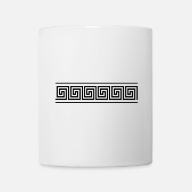 Borderline greek border black - Mug