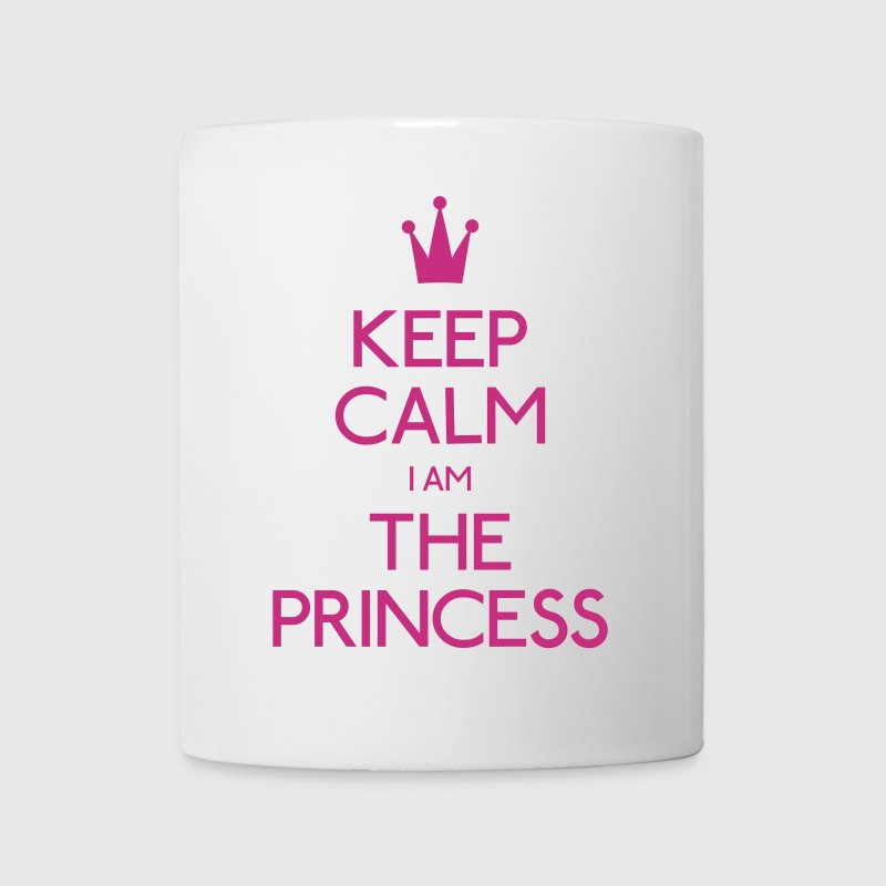 keep calm princess mantener calma princesa - Taza