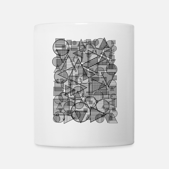 Geometric Mugs & Drinkware - Pattern (Simple Form) - Mug white