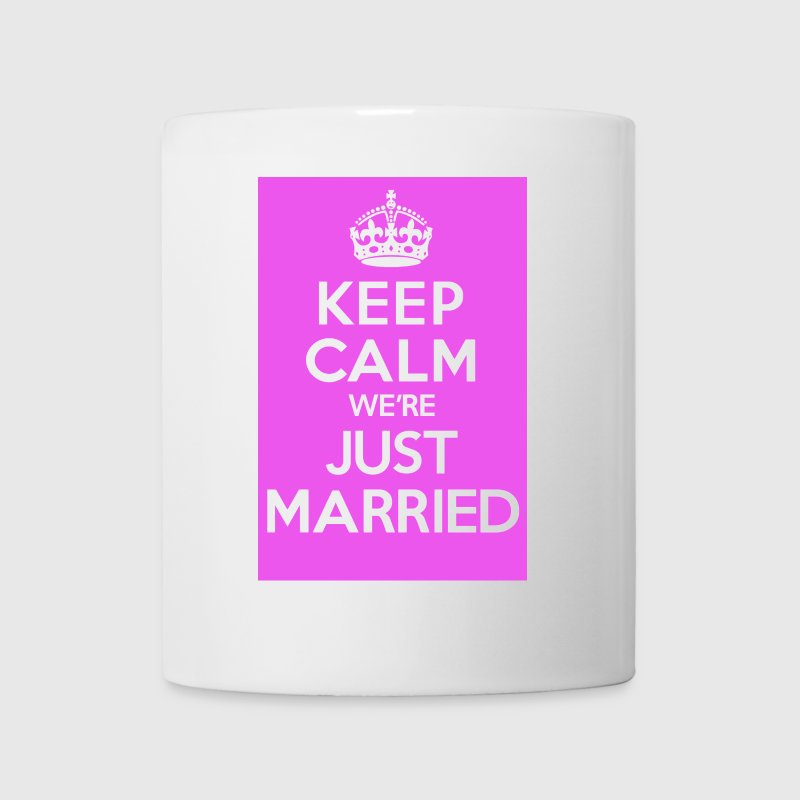 KEEP CALM we're JUST MARRIED in Pink - Mug